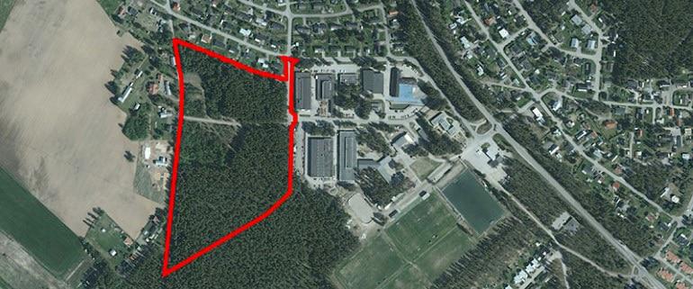 Bilden visar nya bostadsområdet Ljungheden på Bergsviken i Piteå. Här planeras 16 nya tomter som kommer ut till försäljning under våren 2020