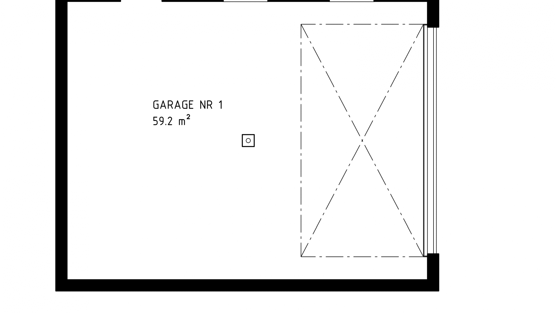 Garage 3D vy nr 1
