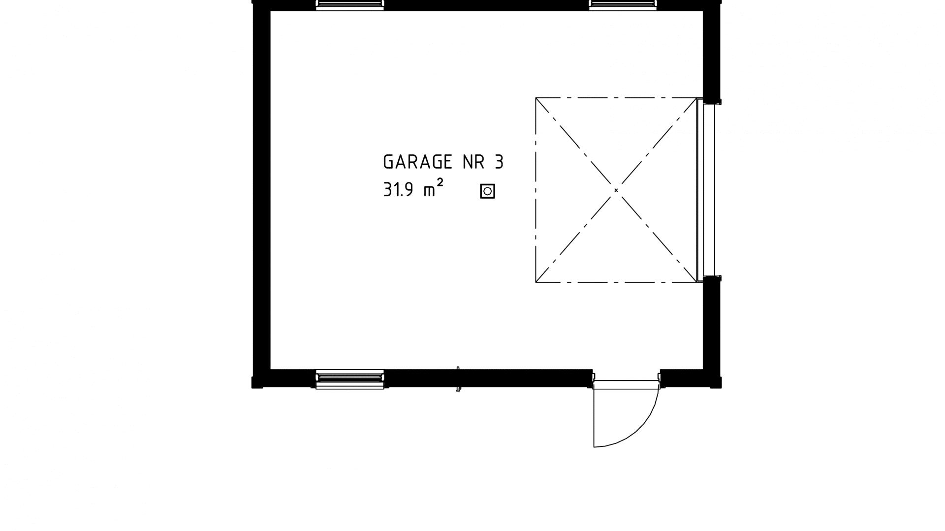 Garage 3D vy nr 3